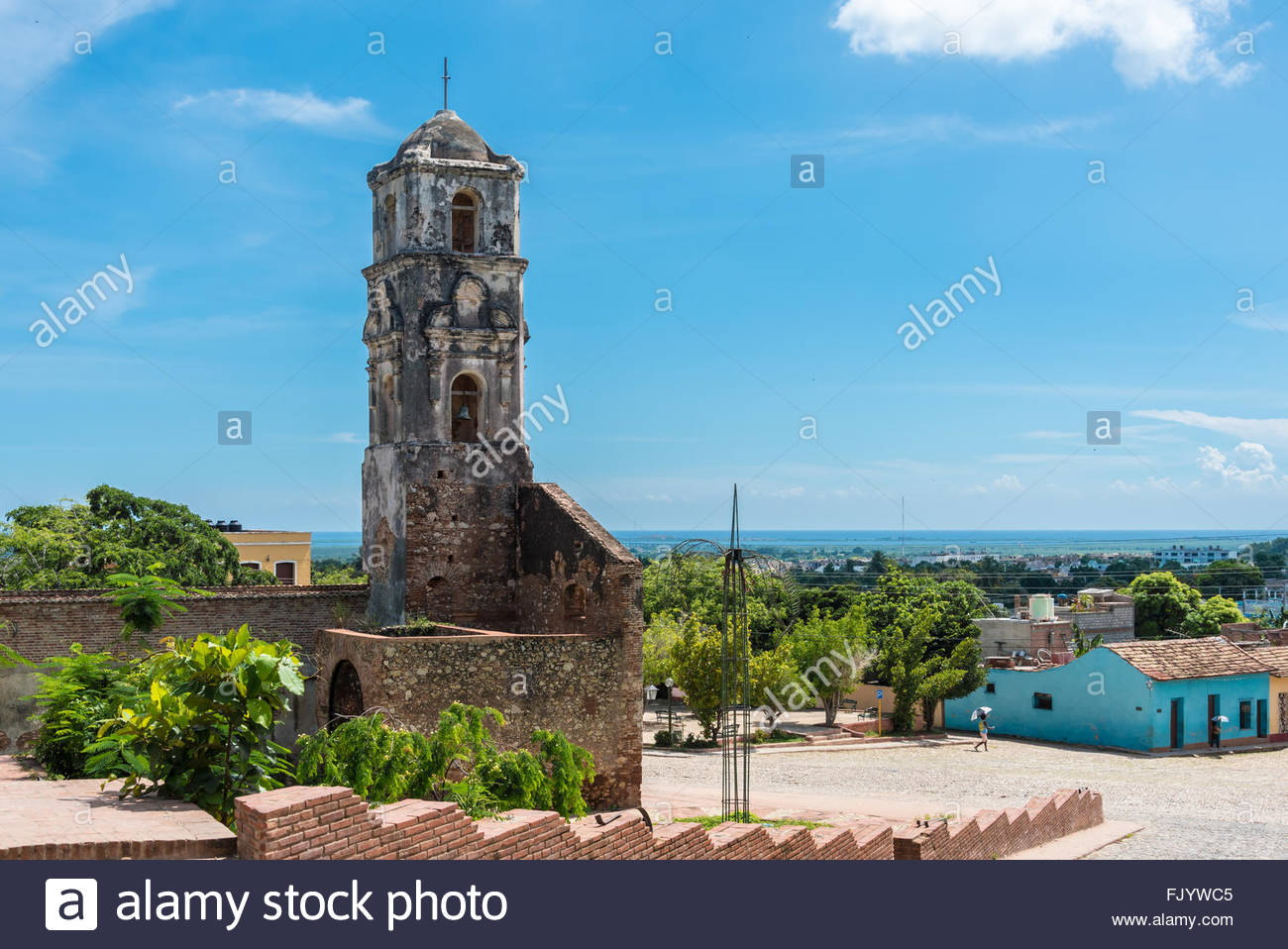 Santa Ana Catholic church ruins. The landmark dates from 1812 and is visited by thousands of tourists every year - Stock Image