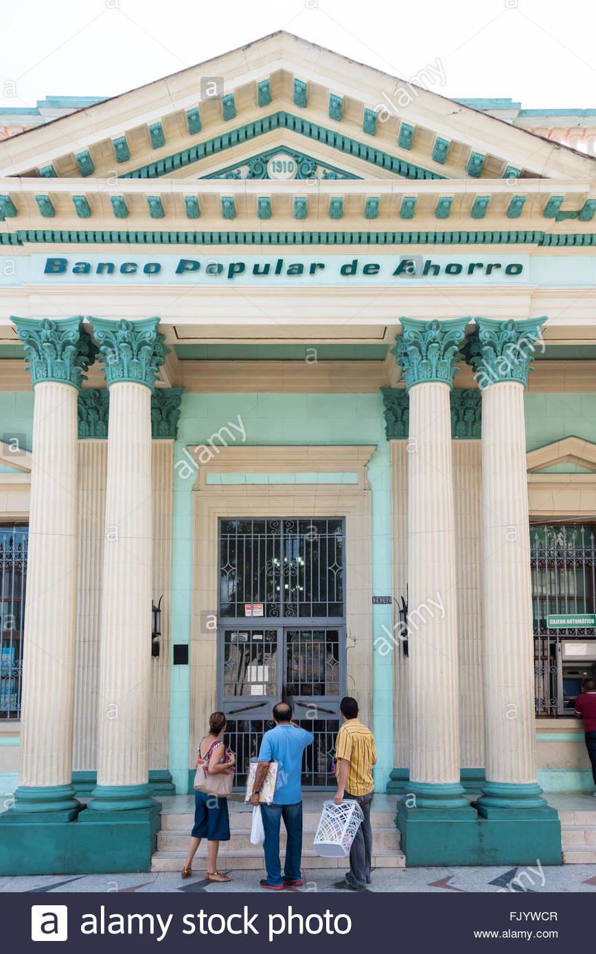 Popular Savings Bank or Banco Popular de Ahorro BPA facade. The bank own definition reads: is a diversified Financial - Stock Image