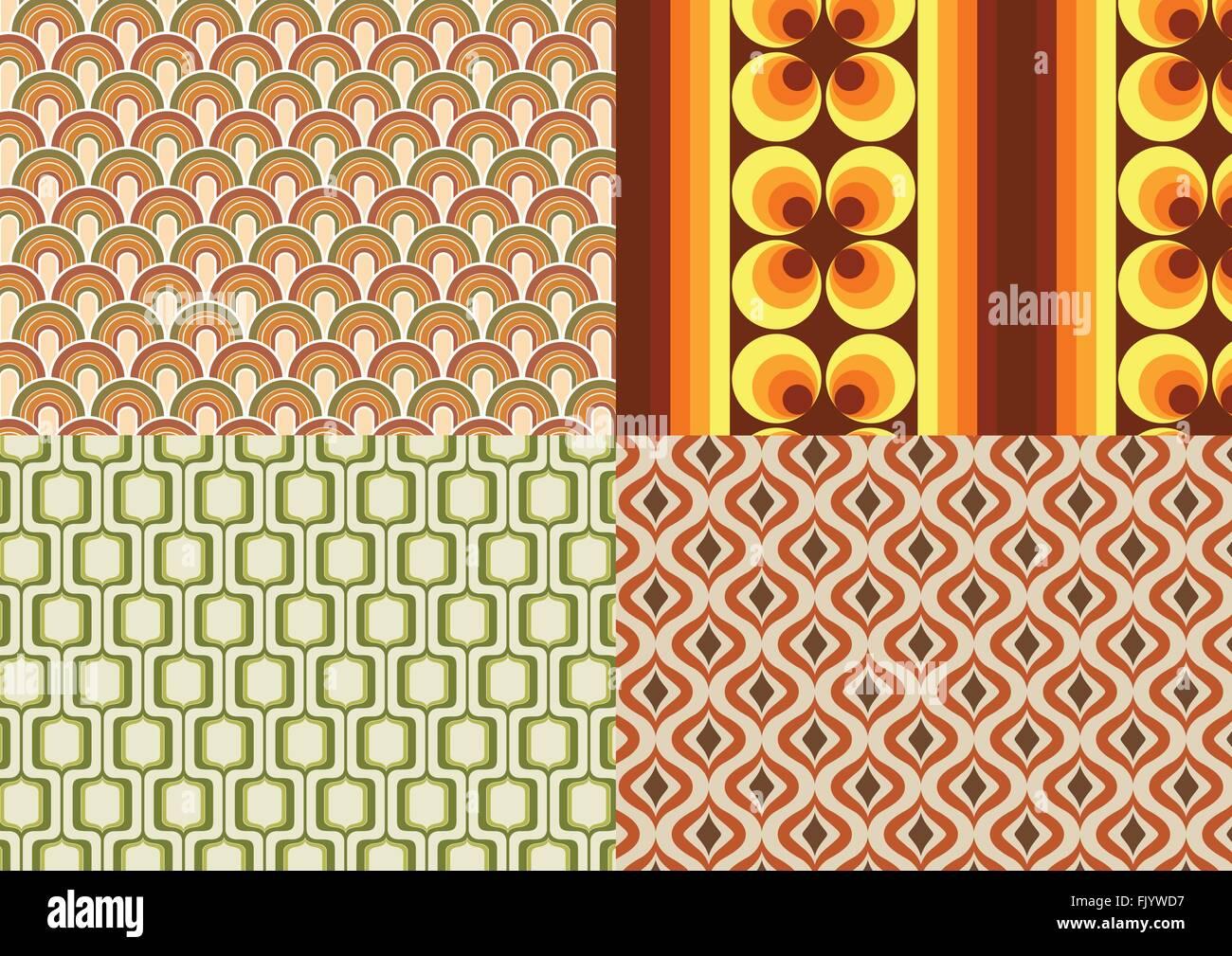 Seventies wallpapers - Stock Image