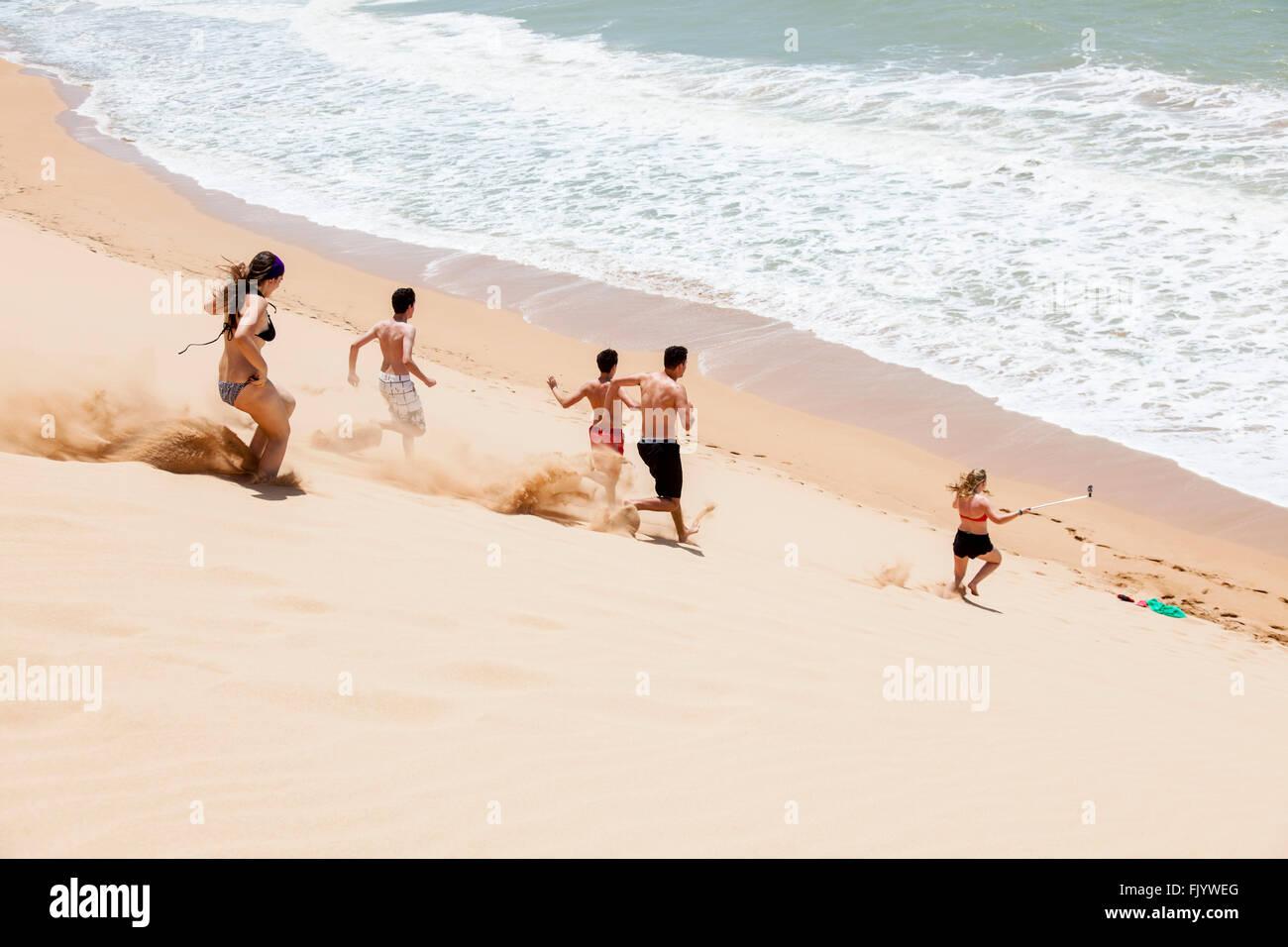 Dune runners - Stock Image