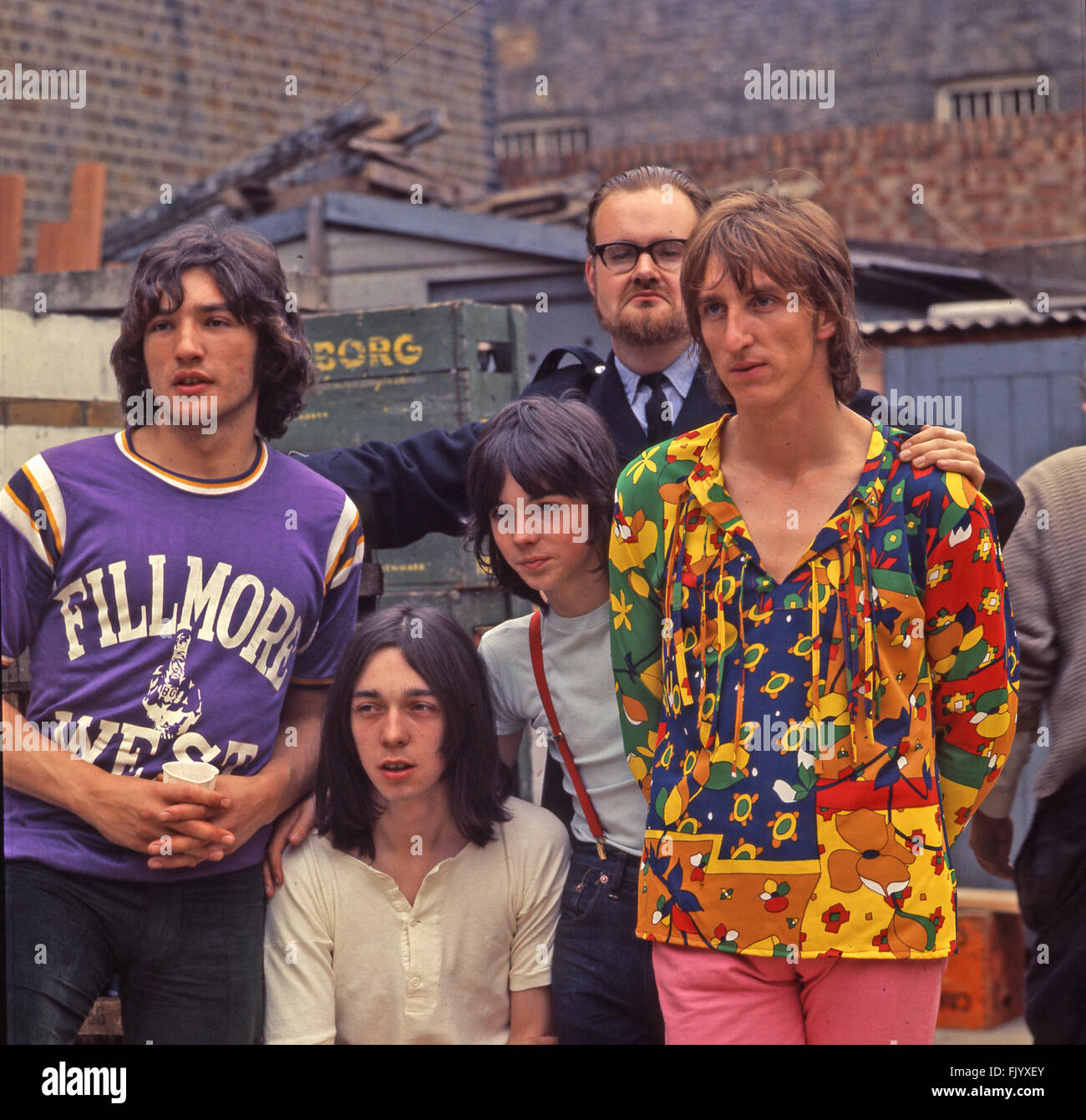THUNDERCLAP NEWMAN  UK pop group in 1969  from left: Jim Avery, Jack McCulloch, Jimmy McCulloch, Andy Newman, John - Stock Image