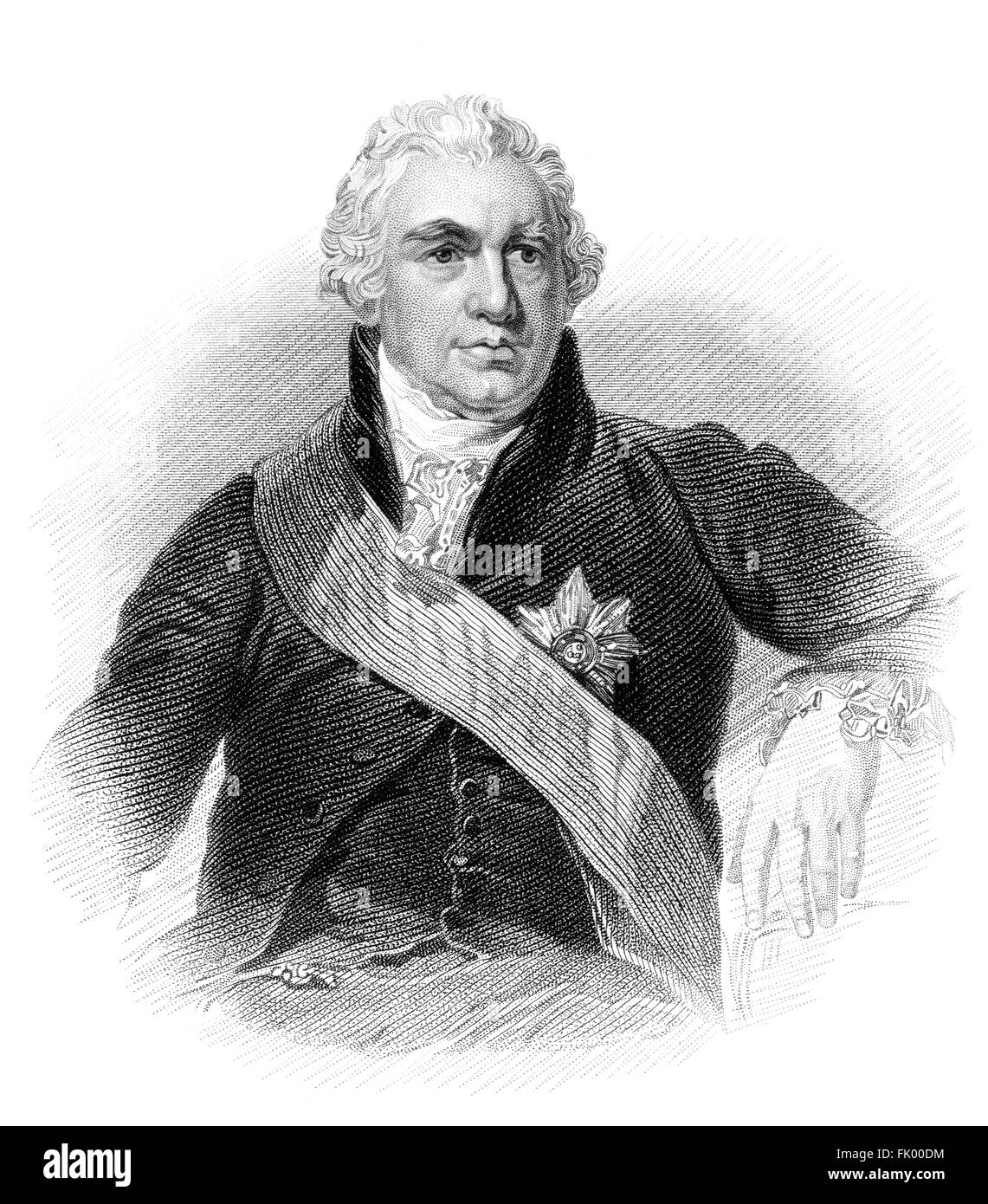 Sir Joseph Banks, 1st Baronet, 1743-1820, a British naturalist, botanist and patron of the natural sciences - Stock Image