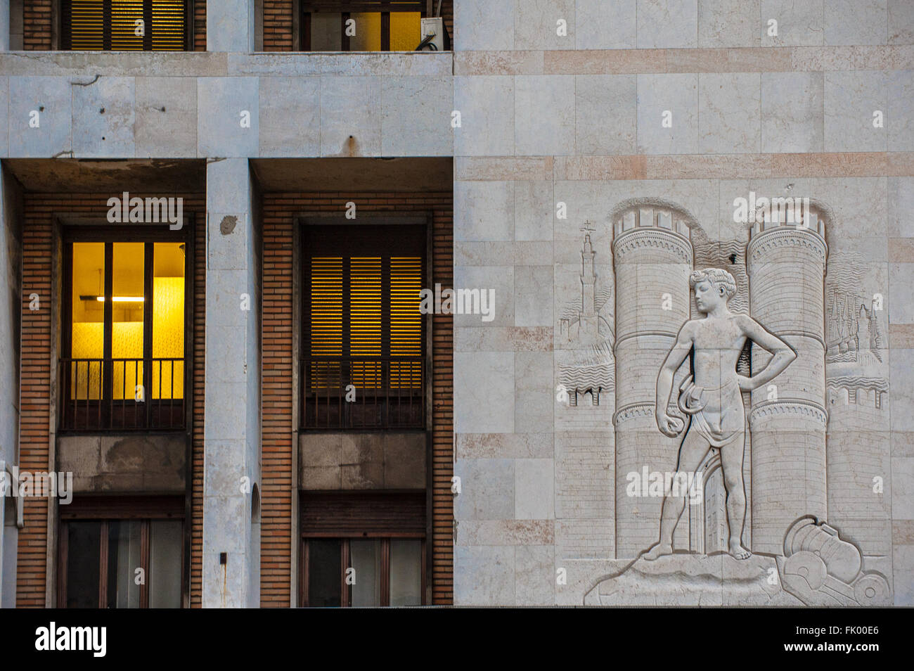 Italy Liguria Genoa Architectures by Marcello Piacentini Piacentini Tower - Stock Image