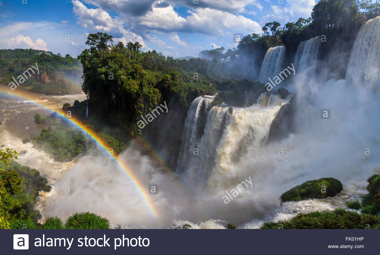 Beautiful landscape with views of the Iguazu Falls. Argentina. - Stock Image
