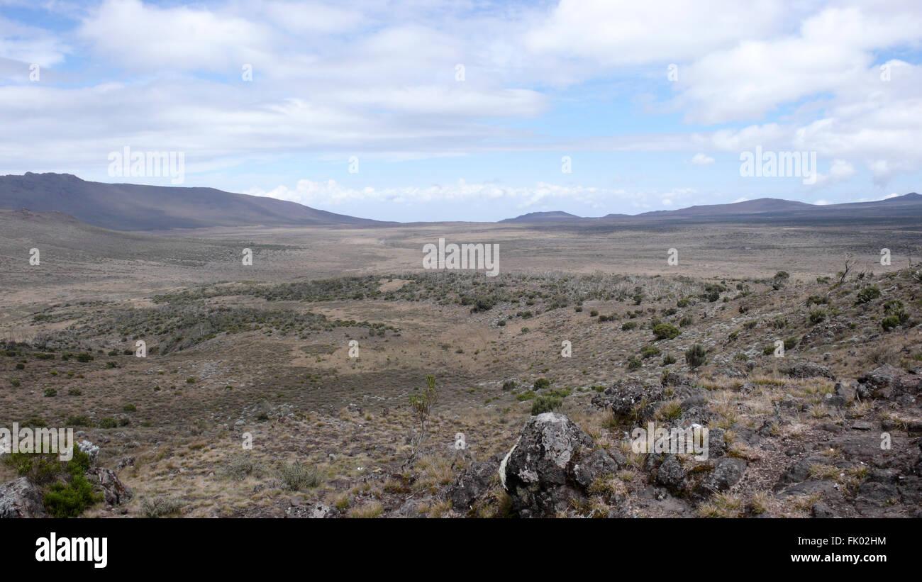 Mount Kilimanjaro mountain volcano - Stock Image