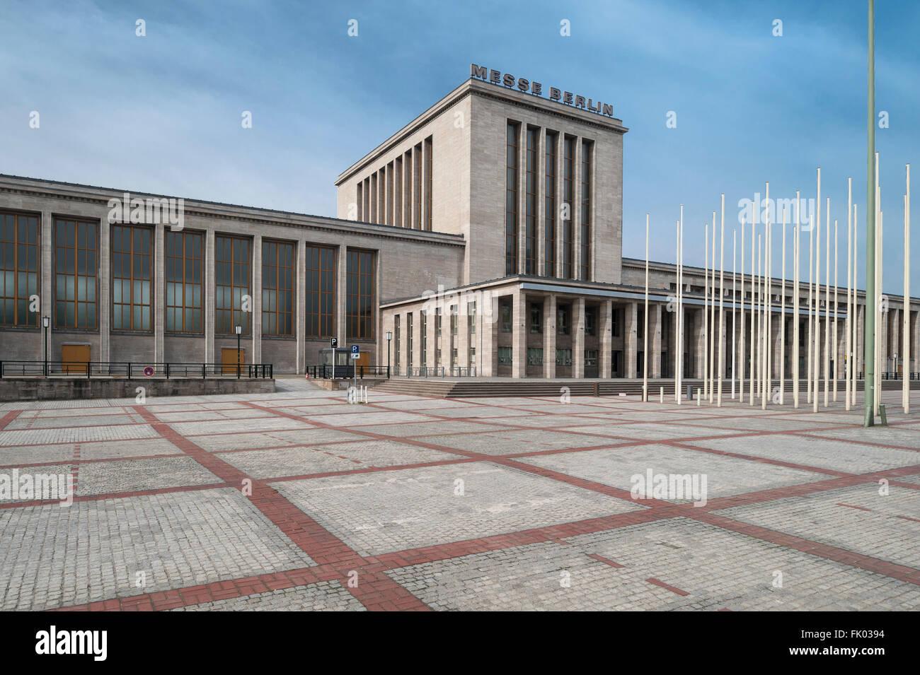 Fair building, main entrance built in 1937 an the Hall of Honour, architect Richard Ermisch, Nazi Monumental Building, - Stock Image