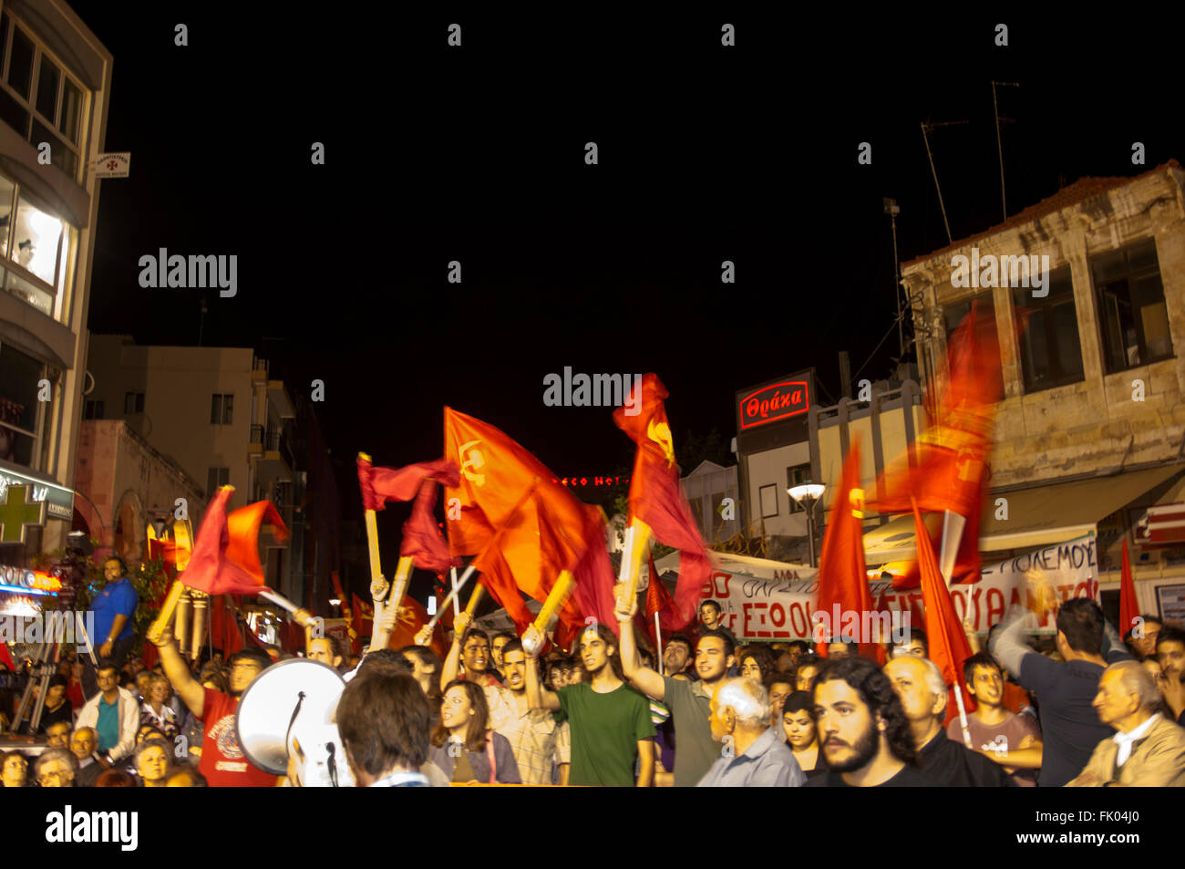 Griechenland, Kreta, Heraklion, politische Veranstaltung der KPE - Stock Image