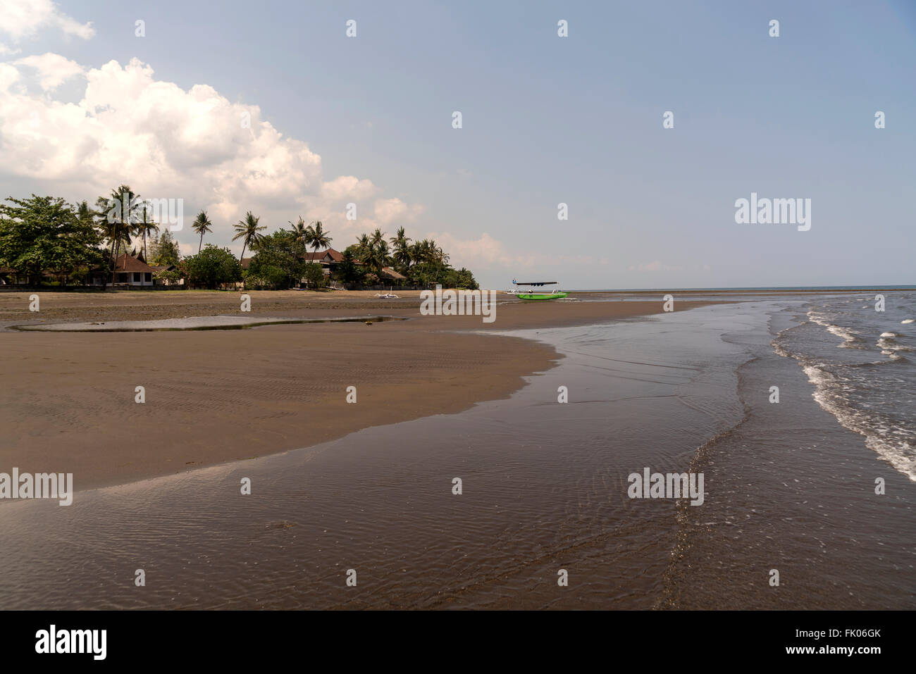 sandy Lovina Beach, Lovina, Bali, Indonesia - Stock Image