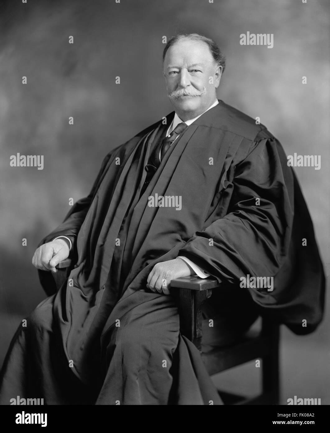 Former U.S. President William Howard Taft as Chief  of Supreme Court, Portrait, circa 1920's.jpg - Stock Image
