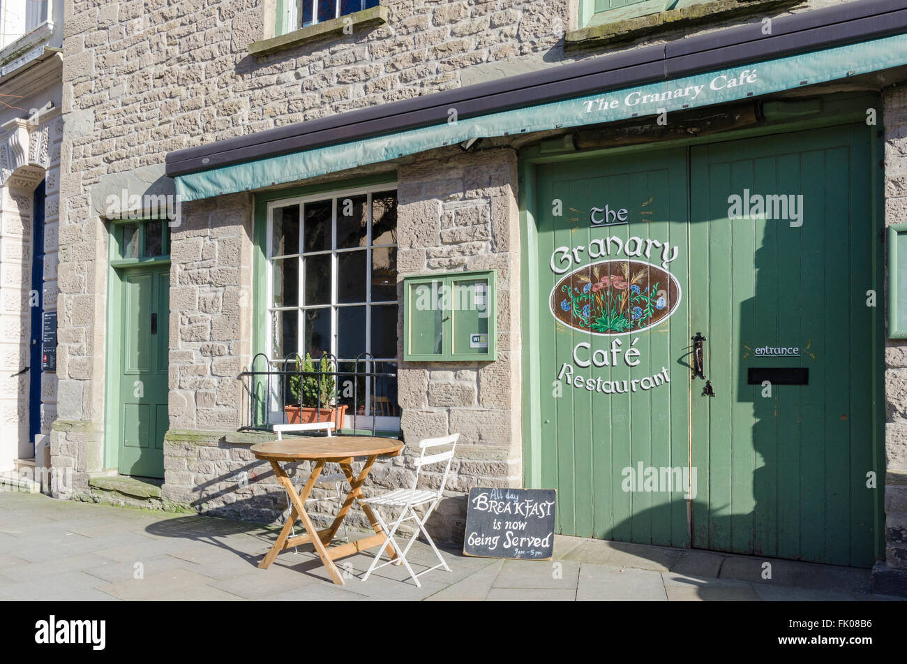 The Granary Cafe restaurant in Hay-on-Wye - Stock Image