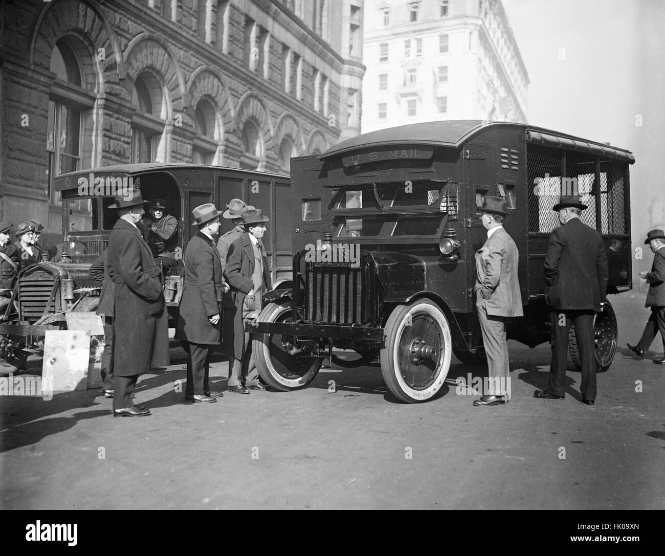 U.S. Mail Trucks, Washington DC, USA, 1921 - Stock Image