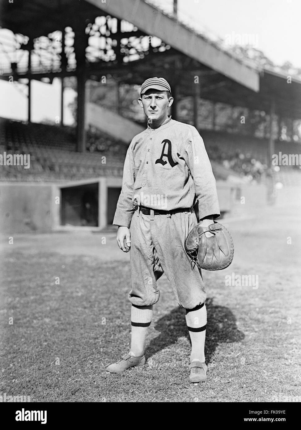 Jack Lapp, Major League Baseball Player, Philadelphia Athletics, Portrait, circa 1914.jpg - Stock Image