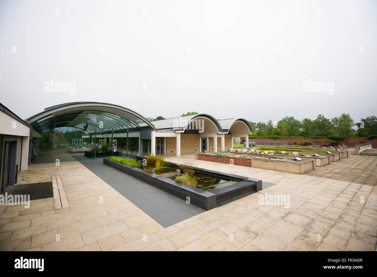 Kew Millennium Seedbank, West Sussex, UK. External view of Millenium seed bank visitor's centre. - Stock Image