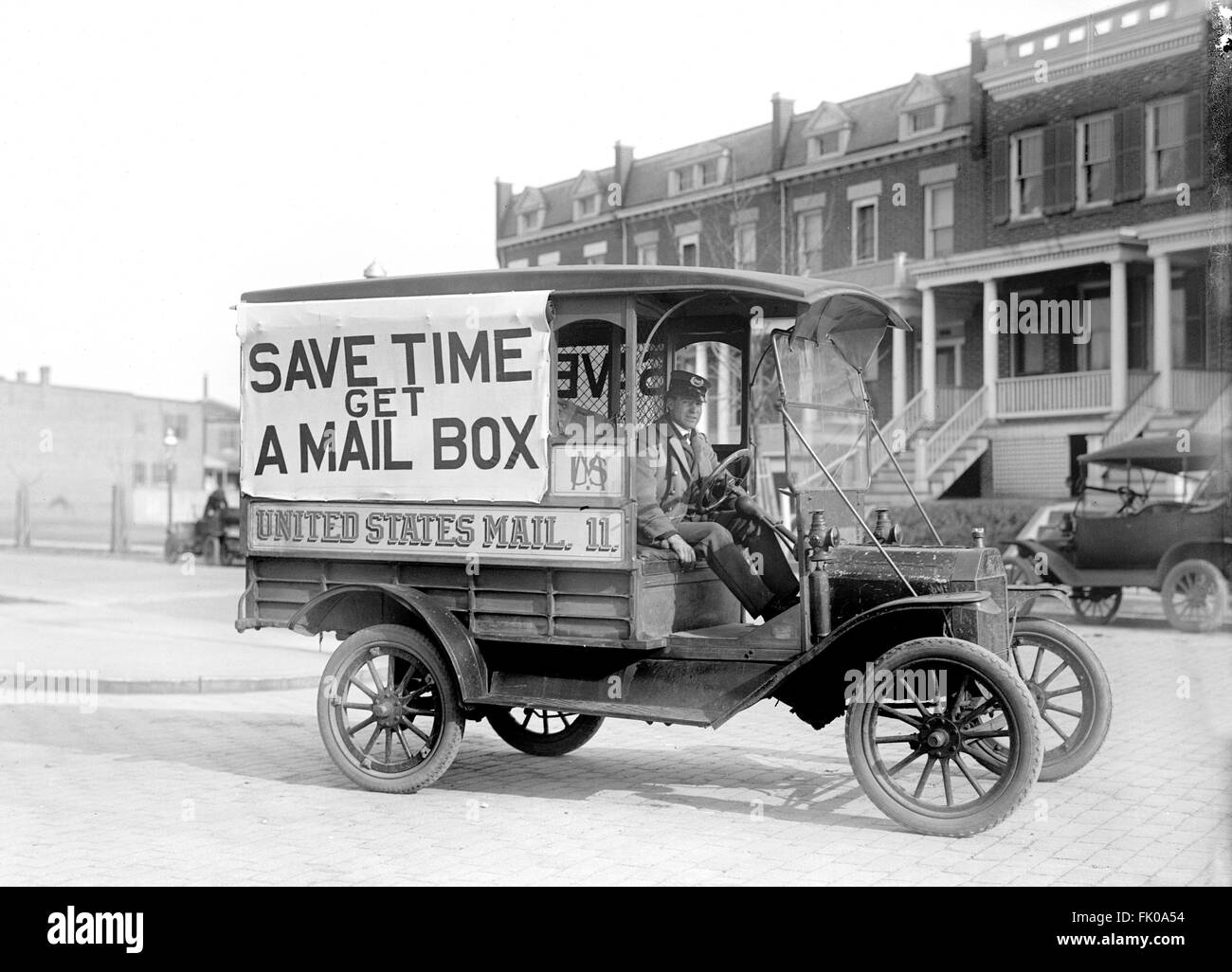 Mail Wagon, US Postal Service, USA, circa 1916 - Stock Image