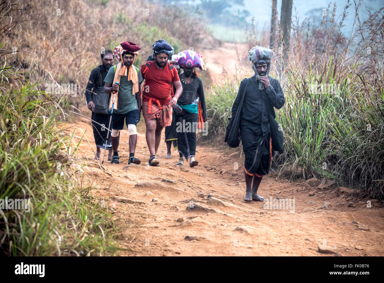 pilgrims in Periyar, Thekkady; Periyar; Kerala; India; Stock Photo