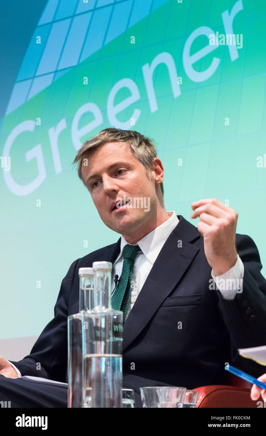 Royal Society of Medicine, Wimpole Street, London, March 4th 2016. Conservative Party candidate Zac Goldsmith at - Stock Image