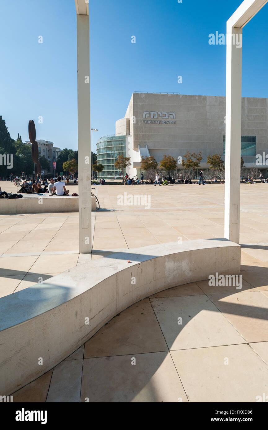 Israel, Tel Aviv, Habima square - Stock Image