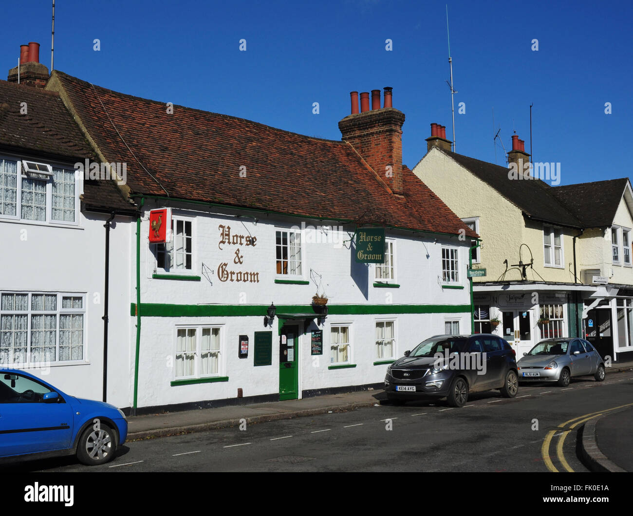 Horse & Groom public house, Park Street, Old Hatfield, Hertfordshire, England, UK - Stock Image