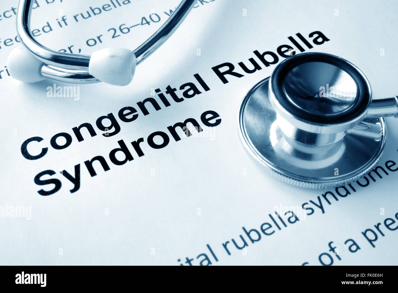 Paper with words  Congenital Rubella Syndrome - Stock Image