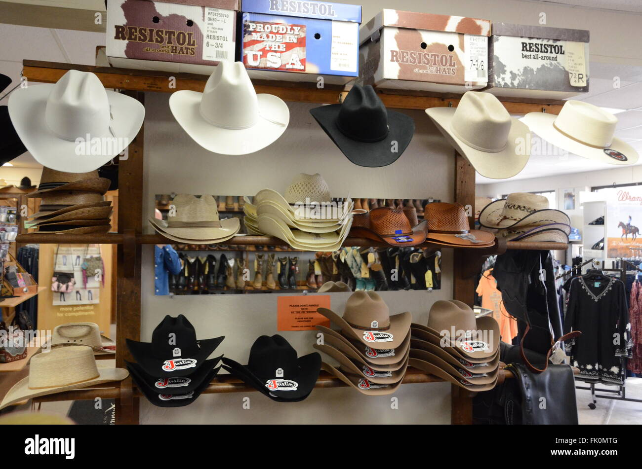 cowboy hats in store shop resistol brand arizona black white brown ... 26ff28ecde2