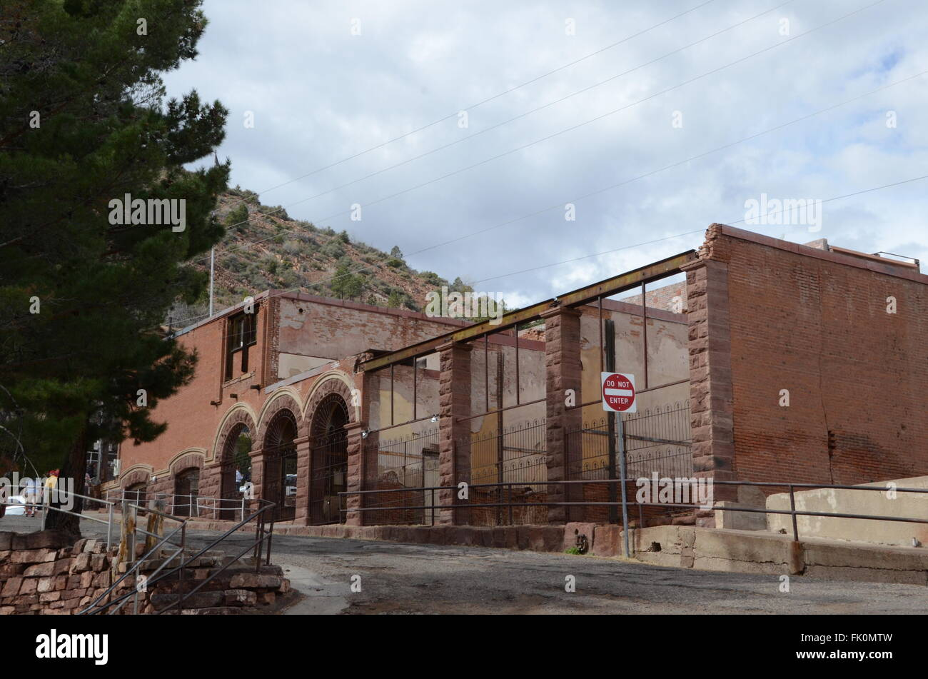 bartlett hotel jerome ghost town arizona - Stock Image
