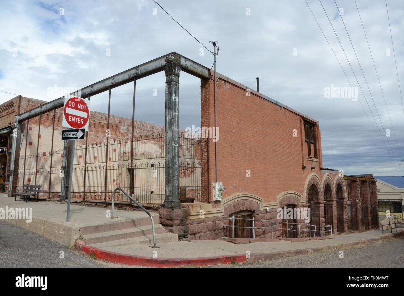 bartlett hotel jerome ghost town arizona abandoned - Stock Image