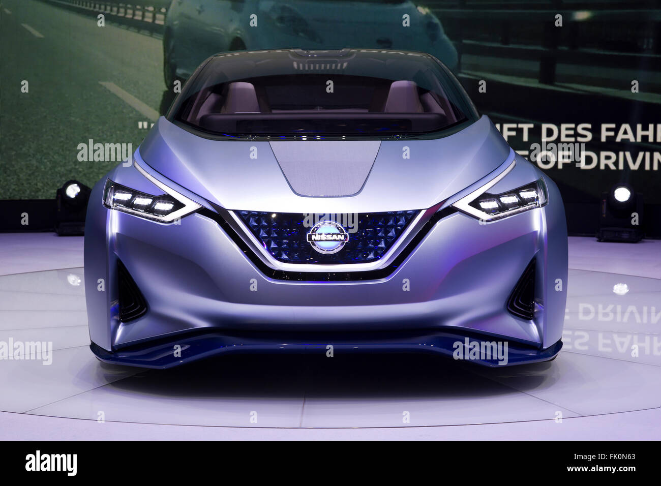 Nissan autonomous electric IDS Concept at the Geneva Motor Show 2016 - Stock Image
