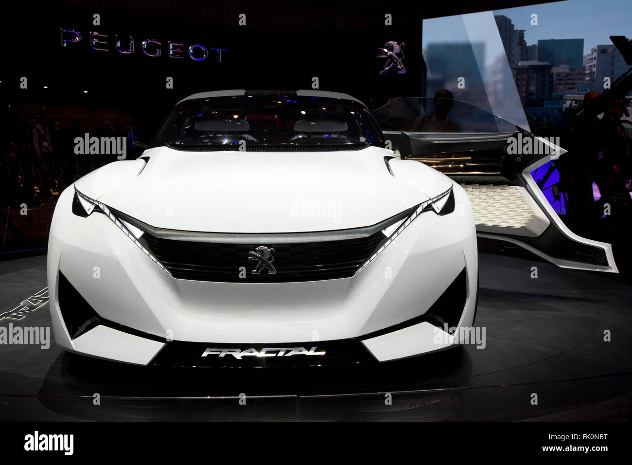 Peugeot Fractal Concept Car at the Geneva Motor Show 2016 - Stock Image
