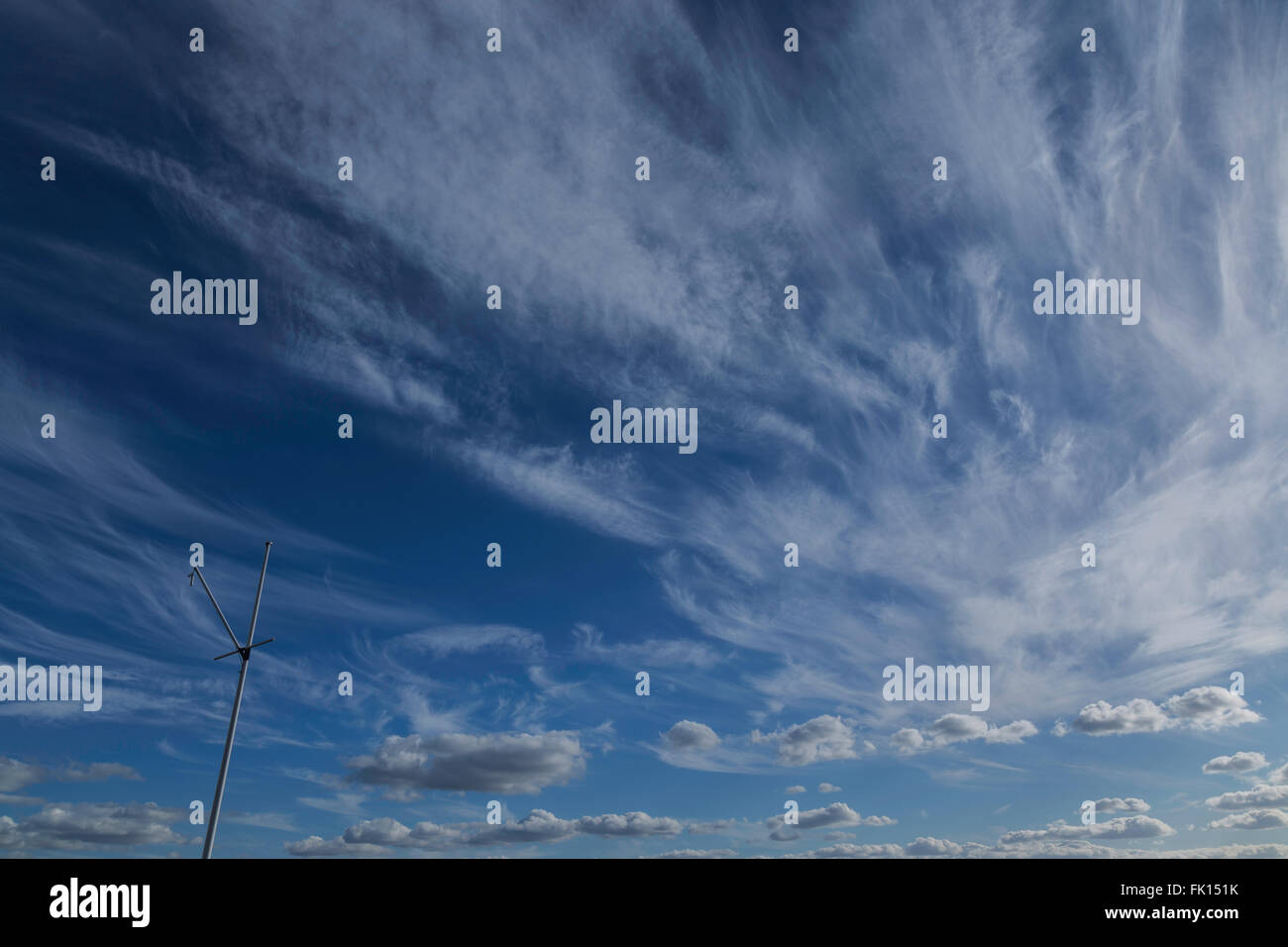 Gorgeous Early Spring Sky - Stock Image