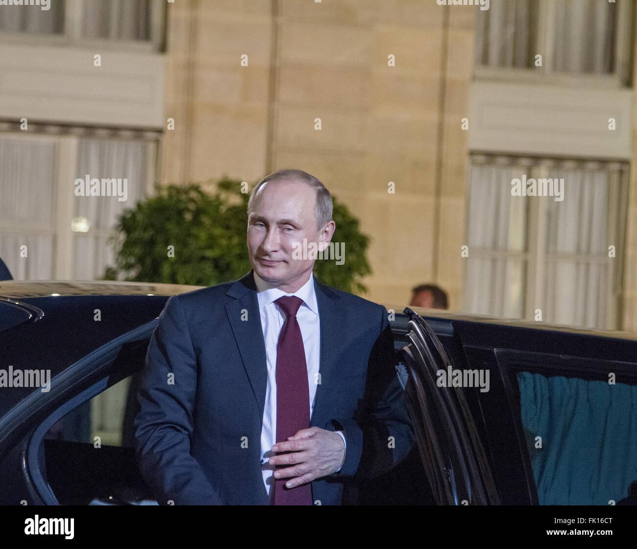 Vladimir Putin Russian President during his visit to Paris France - Stock Image