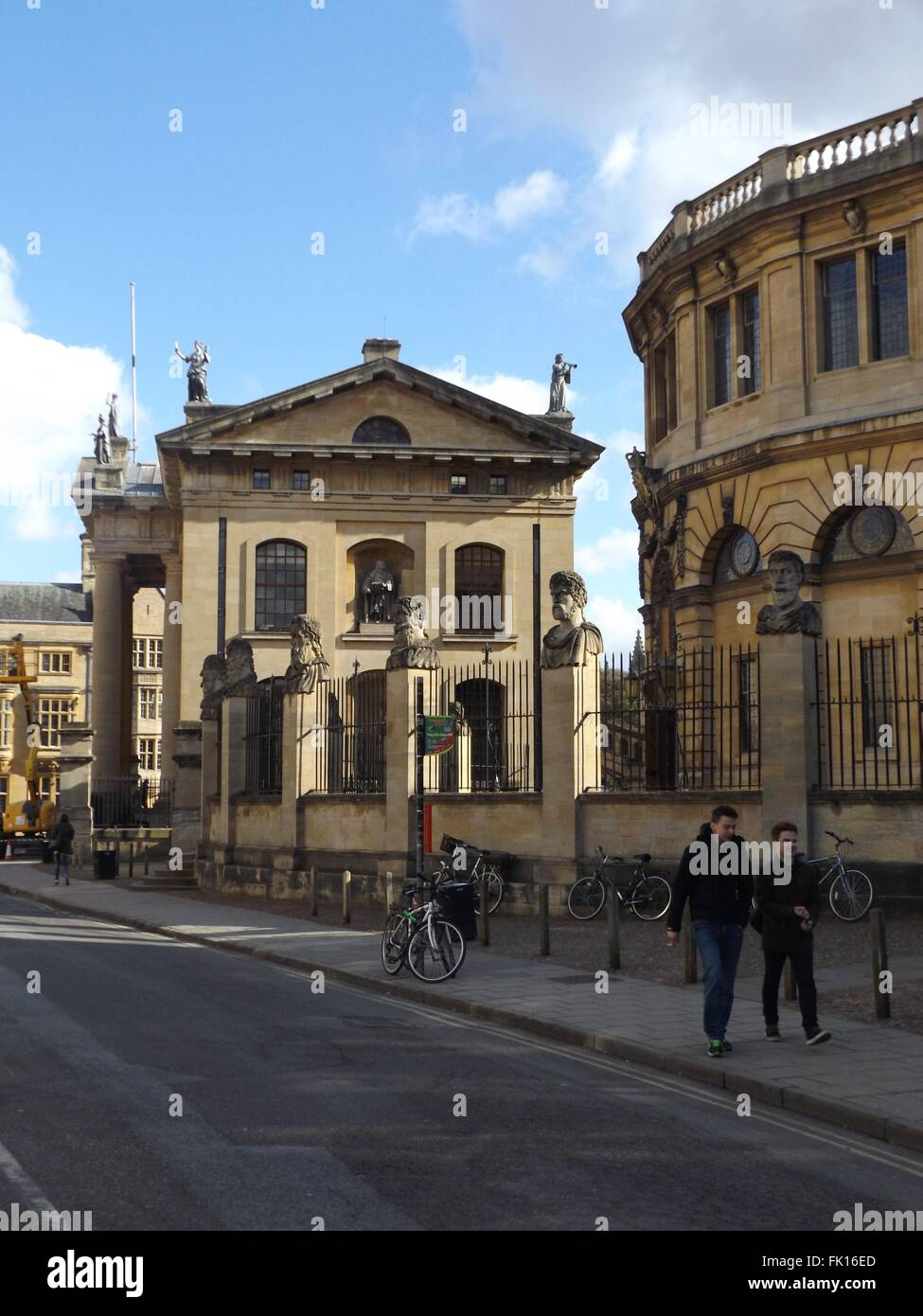 Clarendon Building, next to the Sheldonian theatre in Oxford - Stock Image