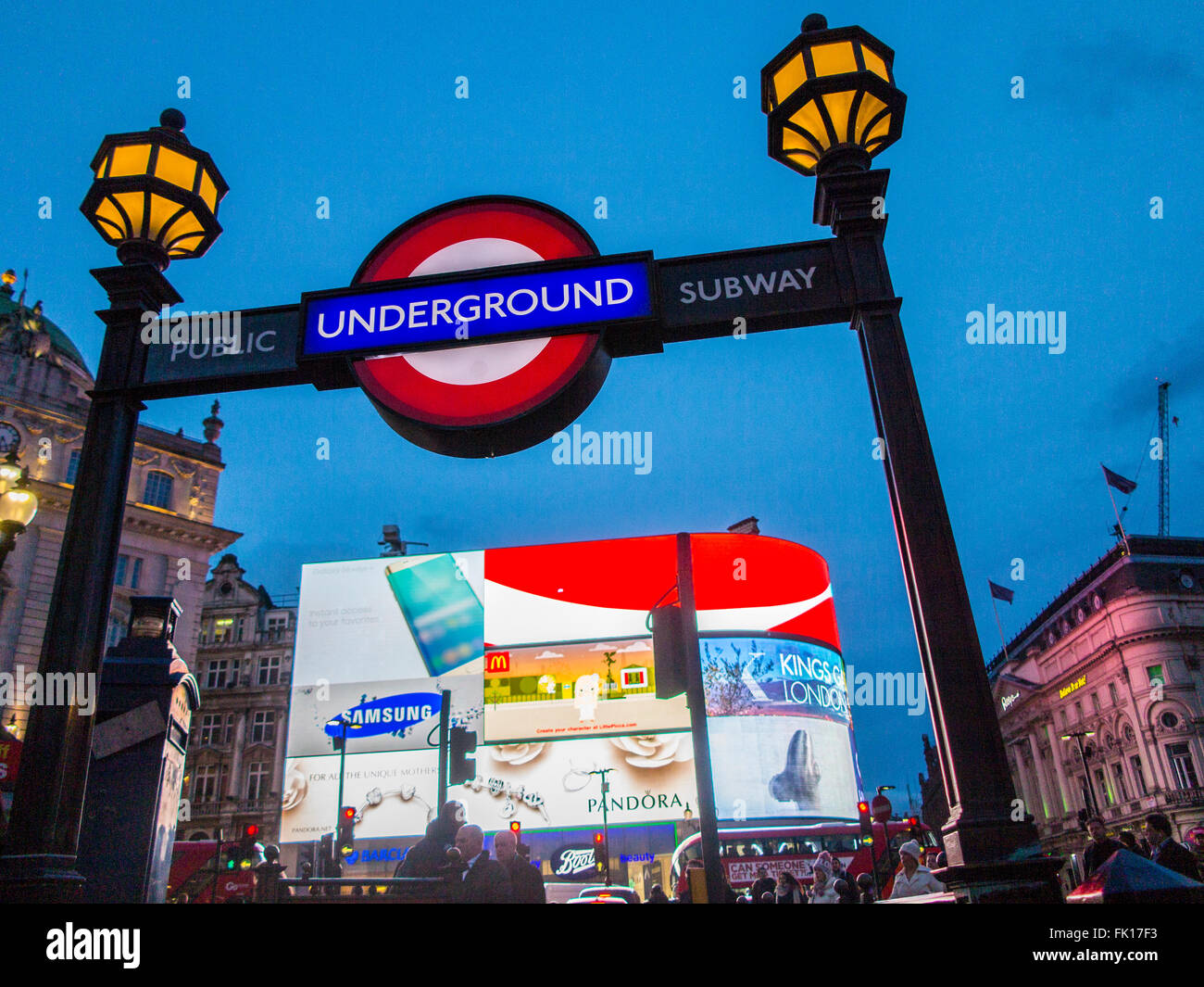 Piccadilly Underground station Stock Photo