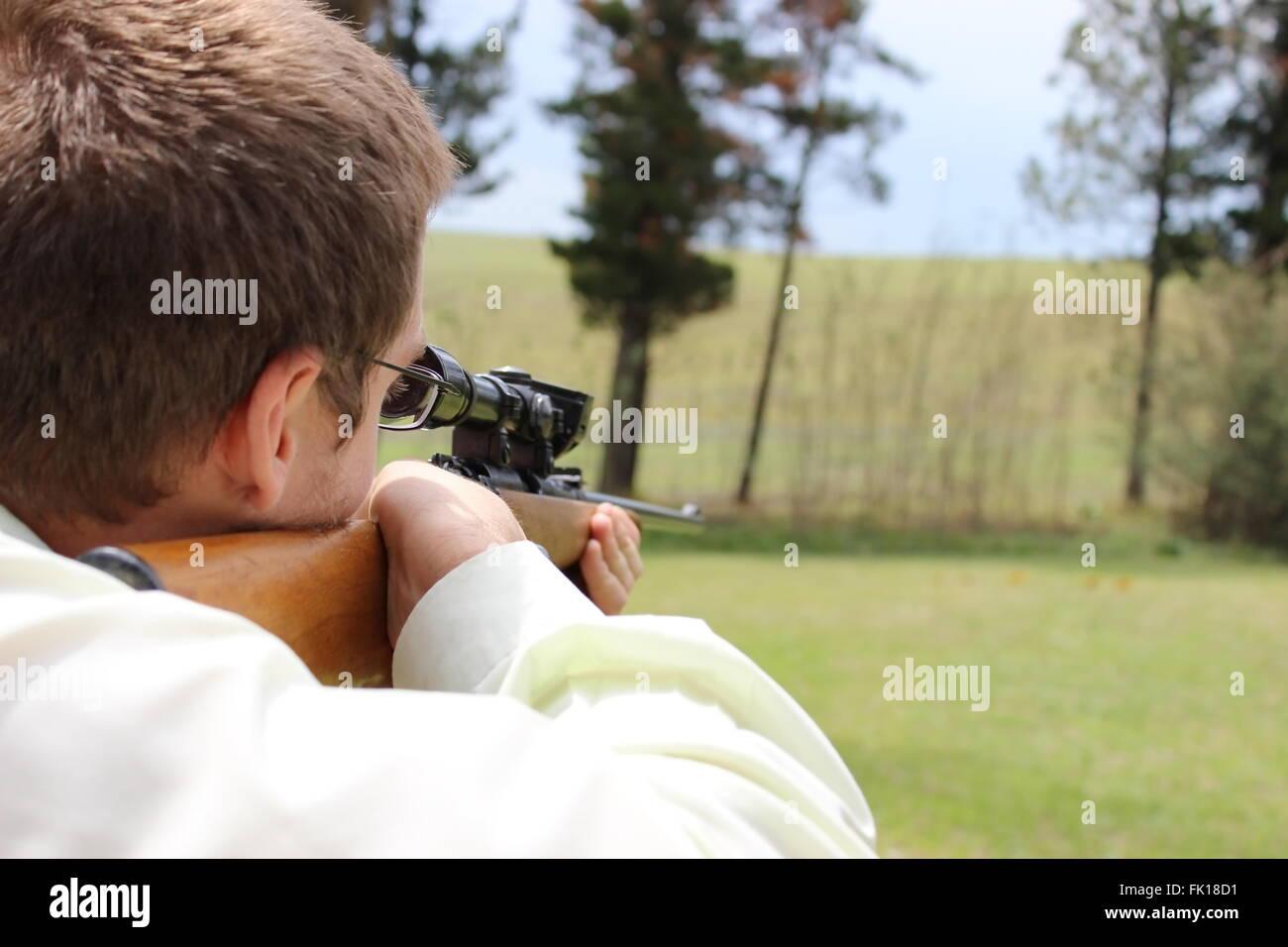 target shooting - Stock Image