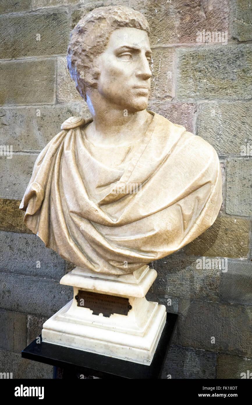 Brutus  by Michelangelo Buonarrotti (1475-1564) marble Museo Nazionale del Bargello - Firenze, Italy - Stock Image