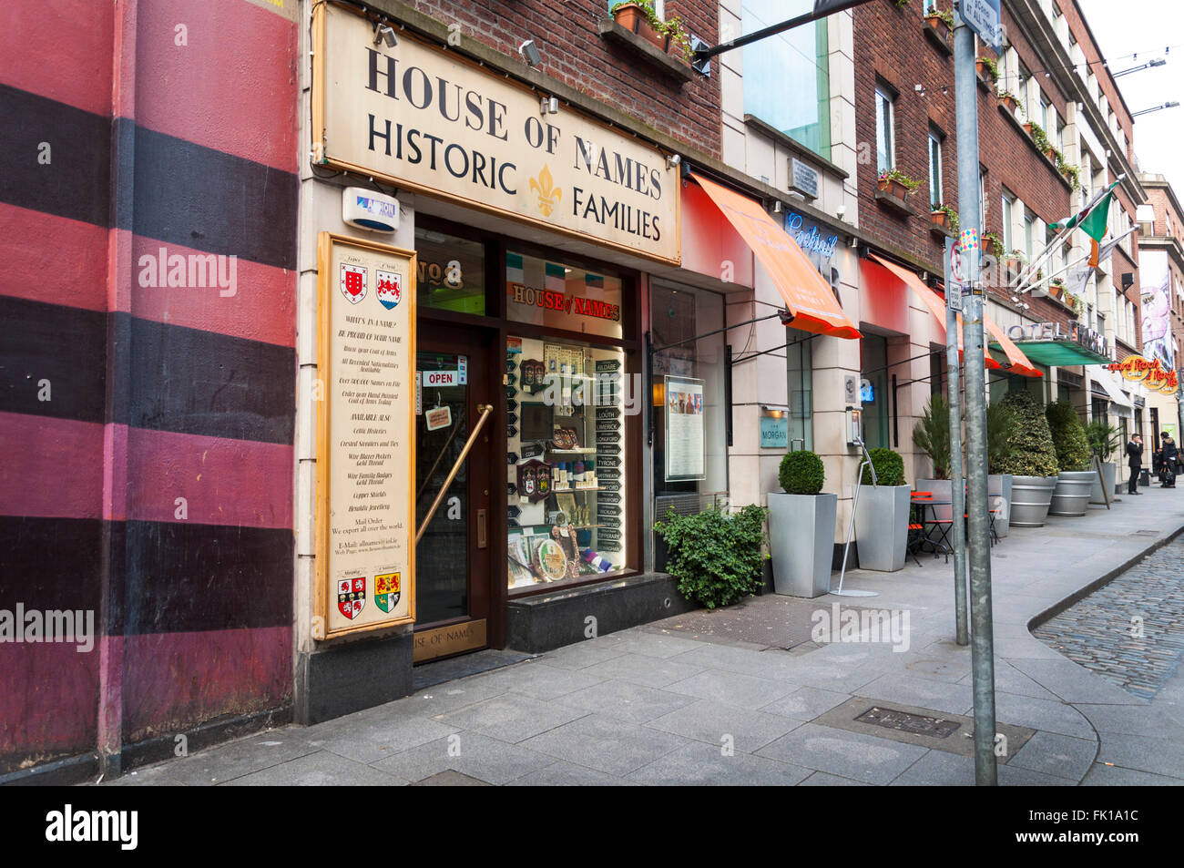 House Of Names, Fleet Street, Dublin, Ireland   Stock Image