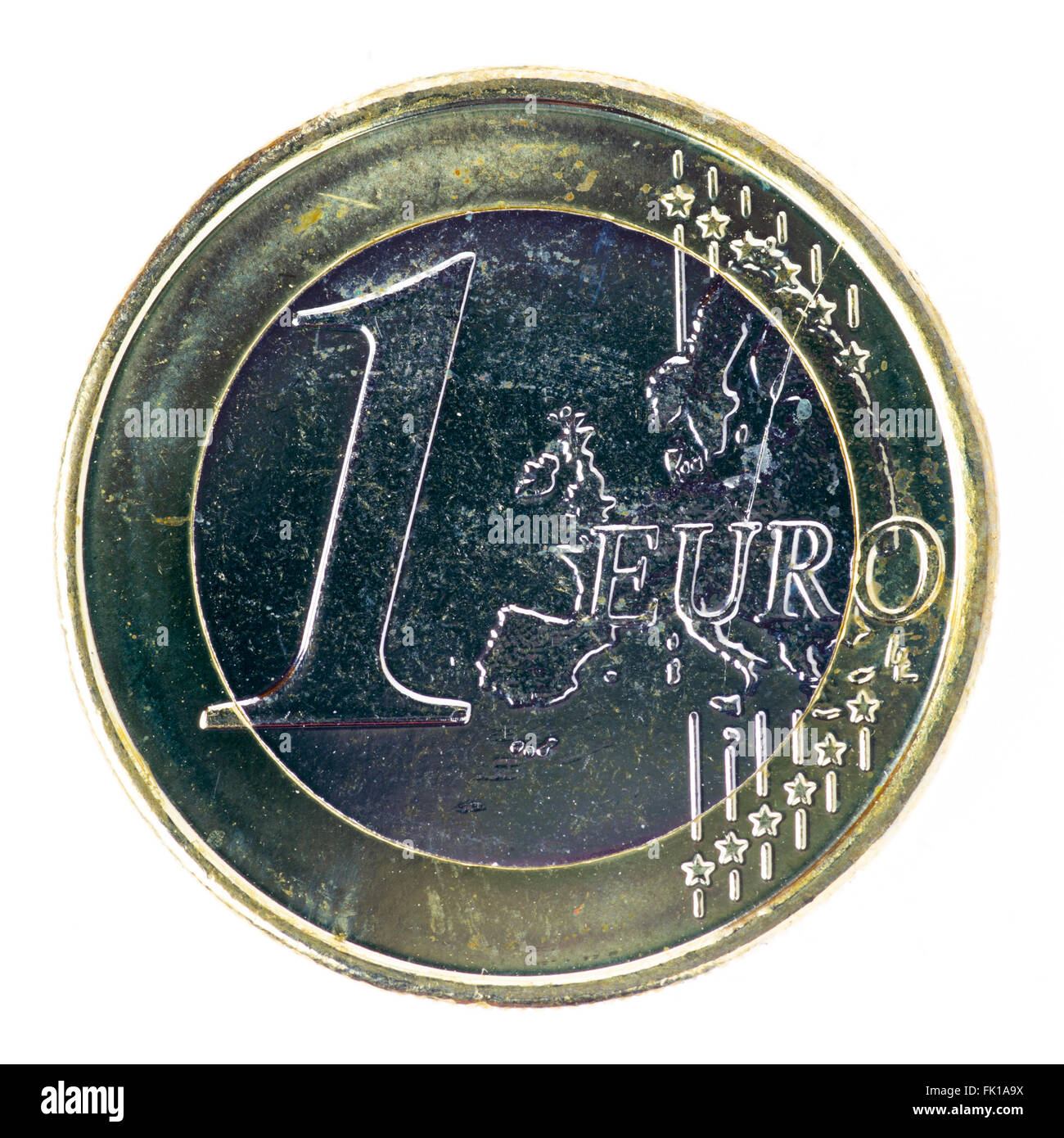One Euro coin - Stock Image