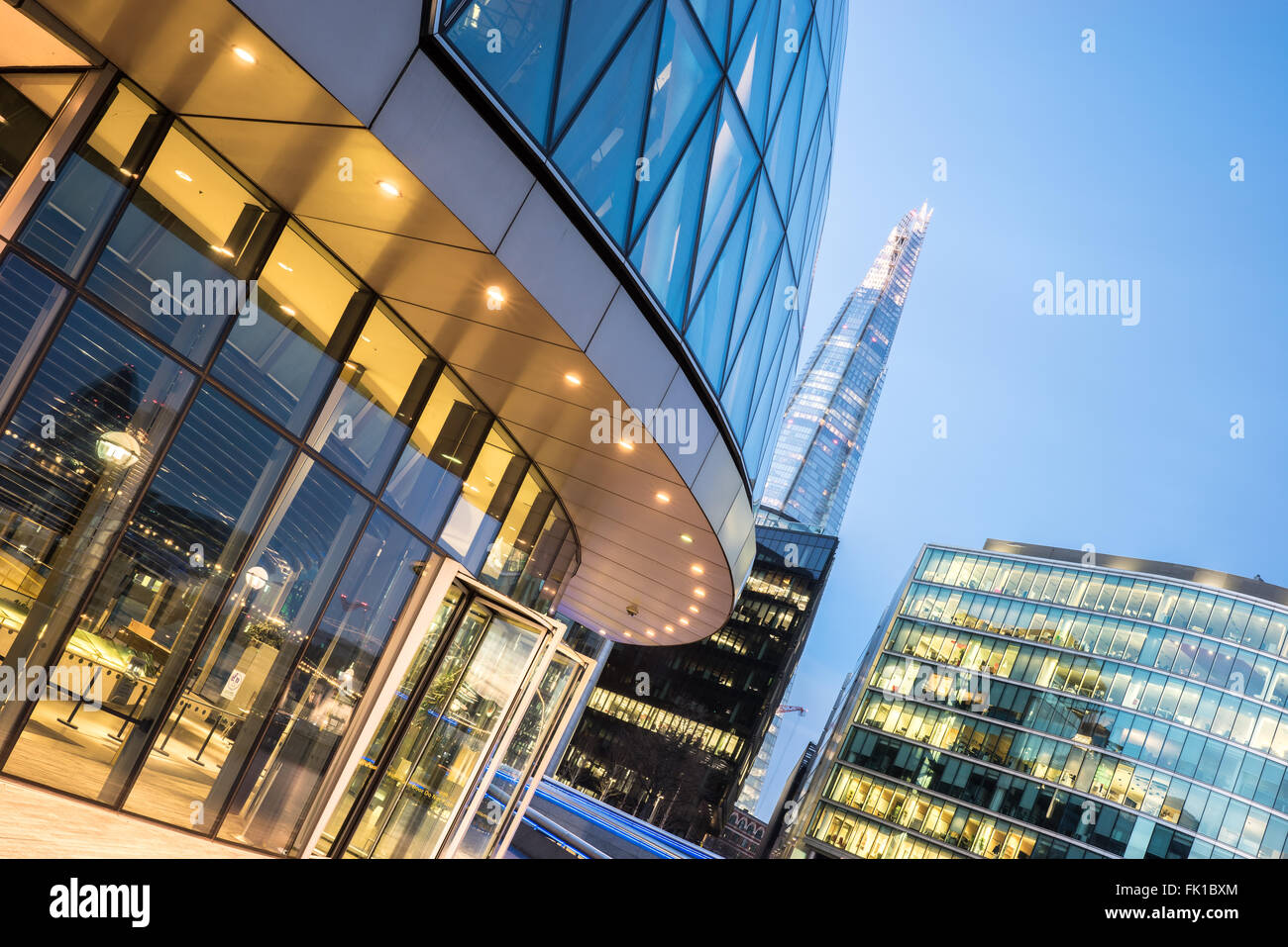 The london Skyline by the Thames - Stock Image