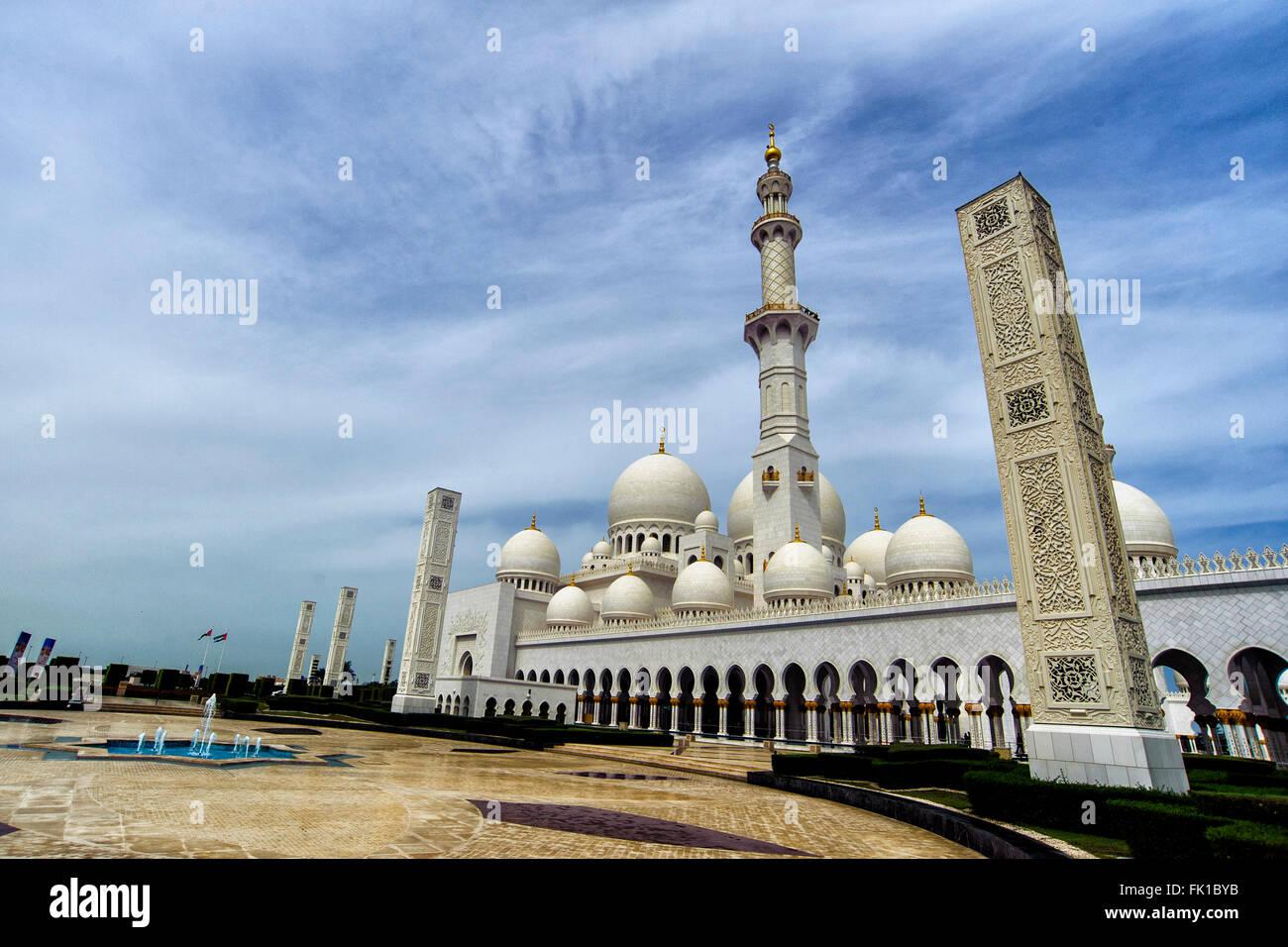 Sheikh Zayed Grand Mosque  Abu Dhabi 29-02-2016  United Arab Emirates  Foto Andrea Staccioli Insidefoto - Stock Image