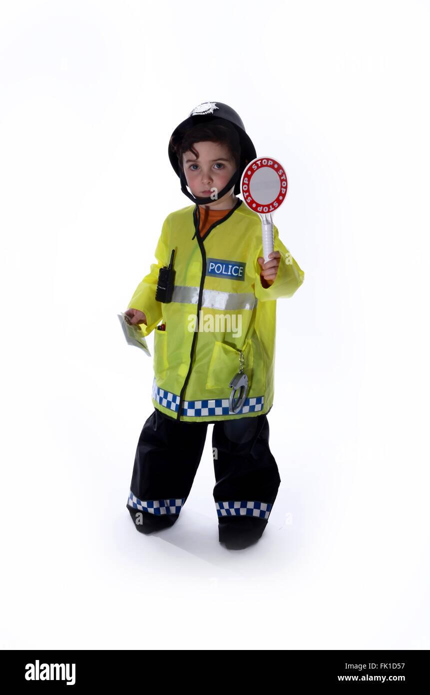 policeman, role-play - Stock Image