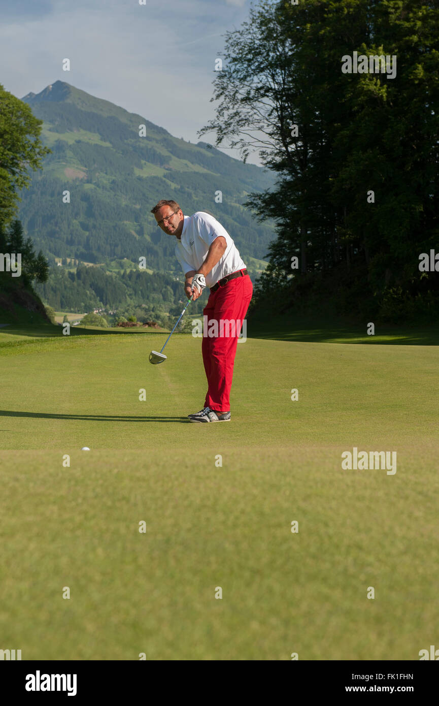 Grand Tirolia Golf & Ski Resort. Kitzbühel. Austria. Europe - Stock Image