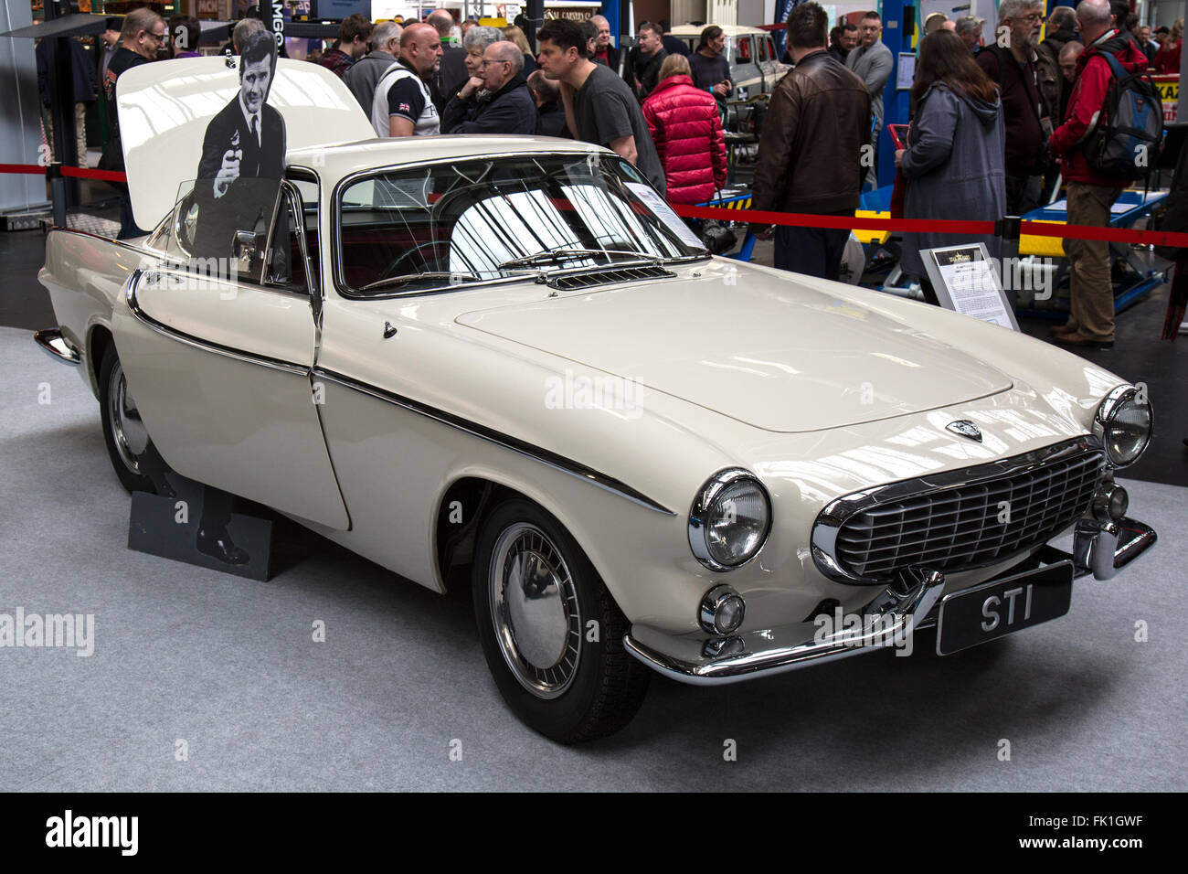 The Volvo P1800 Coupe driven by Roger Moore in the television programme The Saint. - Stock Image