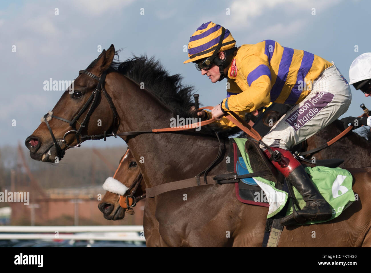 Newbury Racecourse, Berkshire, UK. 5th March, 2016. The Stan James.com Supporting Greatwood Gold Cup Handicap Chase - Stock Image