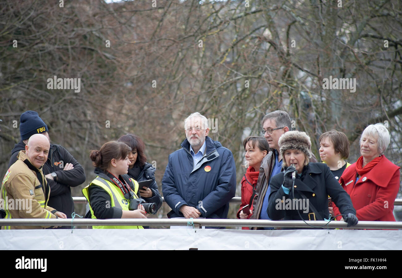 Cardiff Wales United Kingdom 5th March 2016 Anti Union Bill Protest Rally arranged by Welsh Trade Unions with Guest - Stock Image