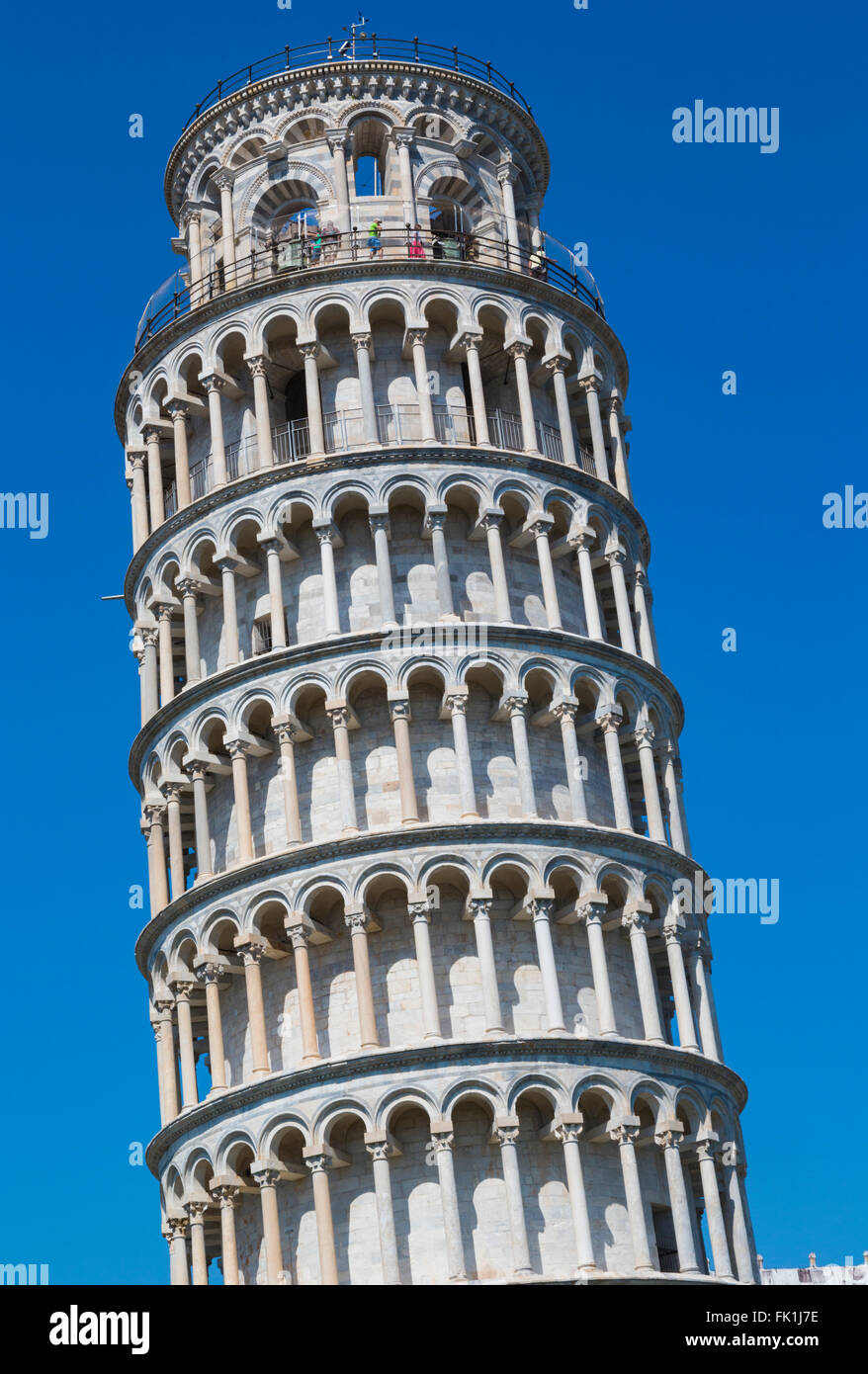 Pisa, Pisa Province, Tuscany, Italy.  The Leaning Tower of Pisa in the Campo dei Miracoli, or Field of Miracles. Stock Photo
