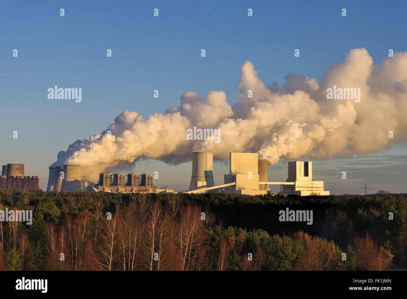 modernes Boxberg Kraftwerk - the modern power plant Boxberg - Stock Image