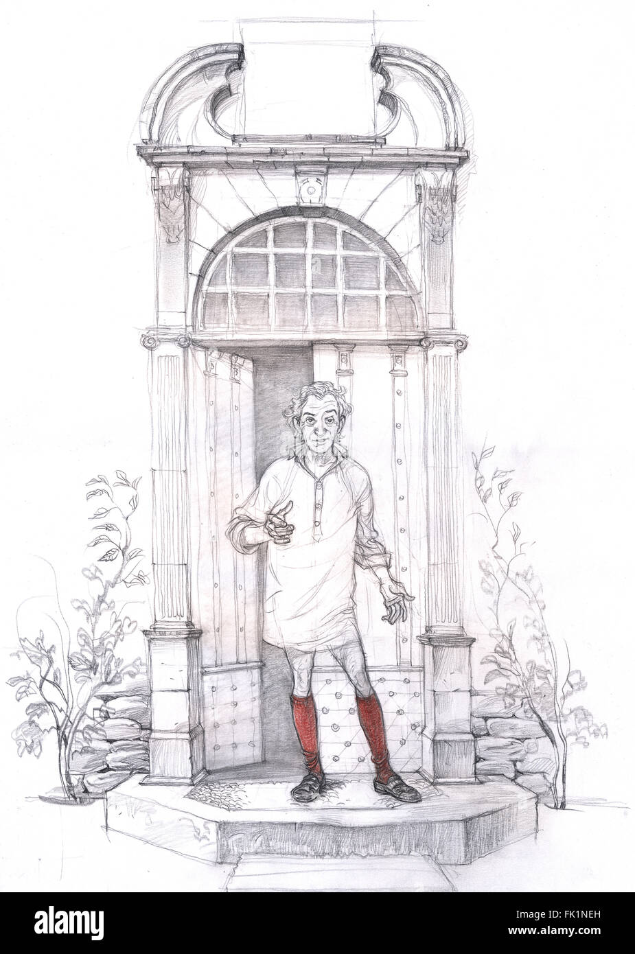 Rustic aristocrat in the morning - Stock Image