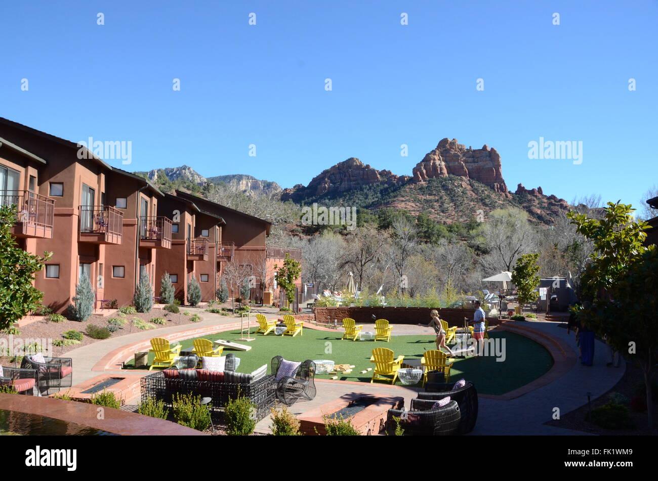 Amara Resort And Spa Kimpton Hotel Sedona Arizona Stock Photo