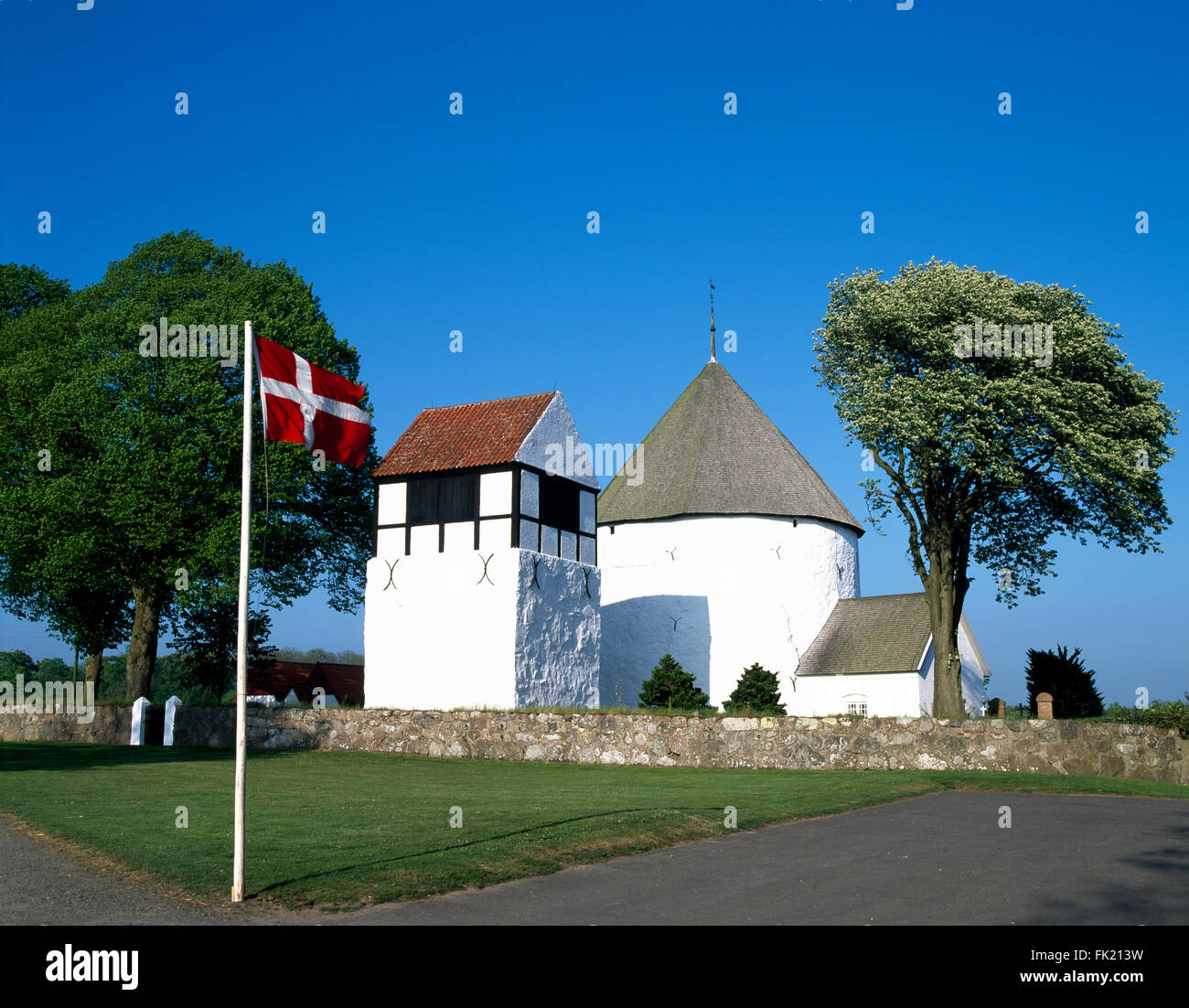 Nylars church,  Bornholm island, Denmark, Scandinavia, Europe - Stock Image