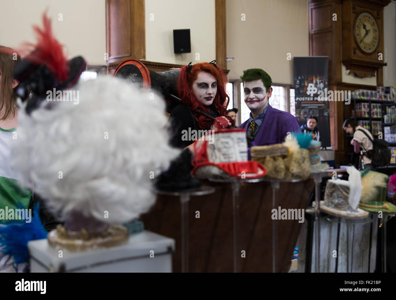 Oxford, UK. 5th March, 2016. One of the exhibit during  First Comic Con held  Oxford. Credit: Pete Lusabia/Alamy - Stock Image