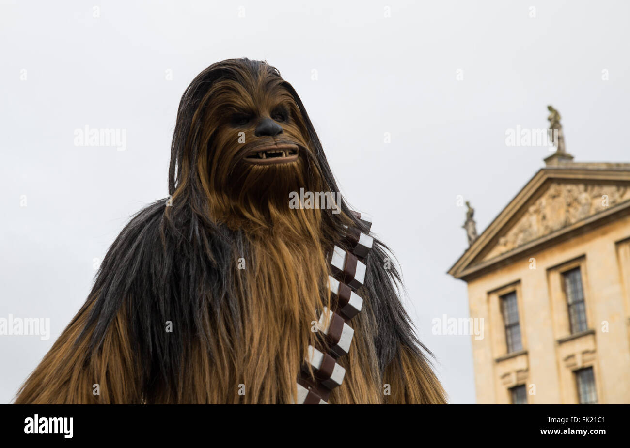 Oxford, UK. 5th March, 2016. Chewbacca cosplayer at the First Comic Con in Oxford. Credit: Pete Lusabia/Alamy live - Stock Image